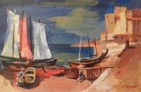 Boote bei Amalfi